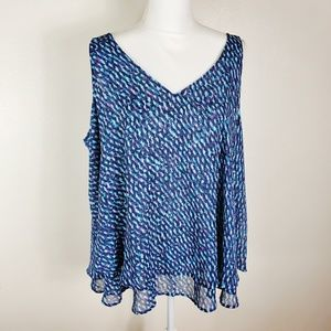 Lane Bryant Blue/Purple Sleeveless Blouse size 20W